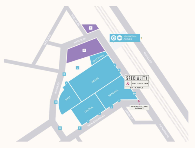 Olimpia Exhibition Centre Map