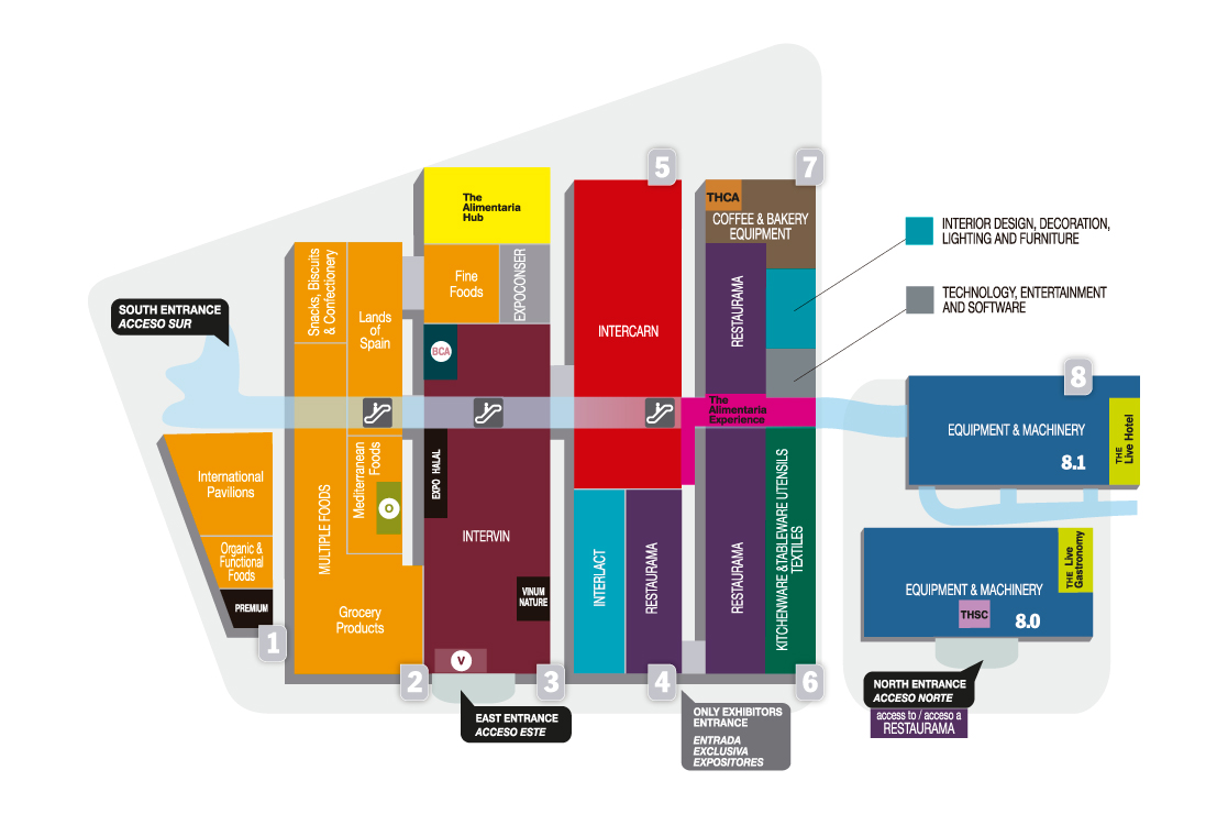 Mapa expositores Alimentaria 2018