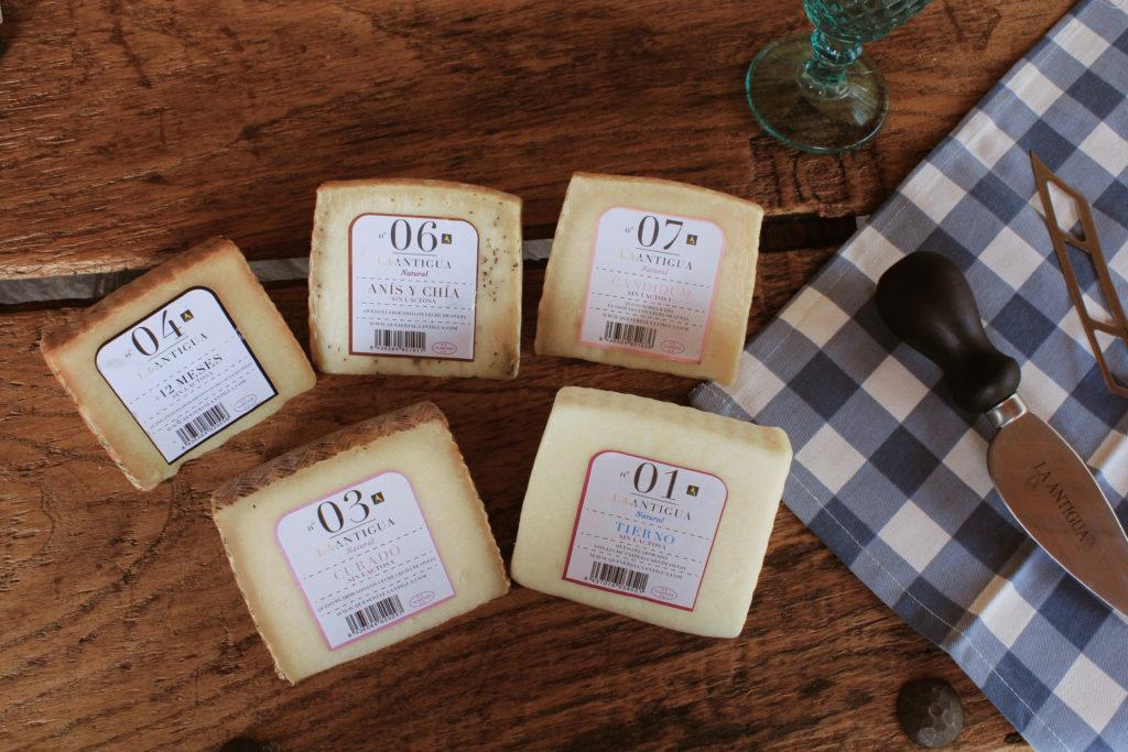 Tabla de quesos sin lactosa del mes de septiembre.