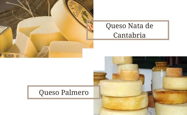 Queso Nata de Cantabria y Queso Palmero